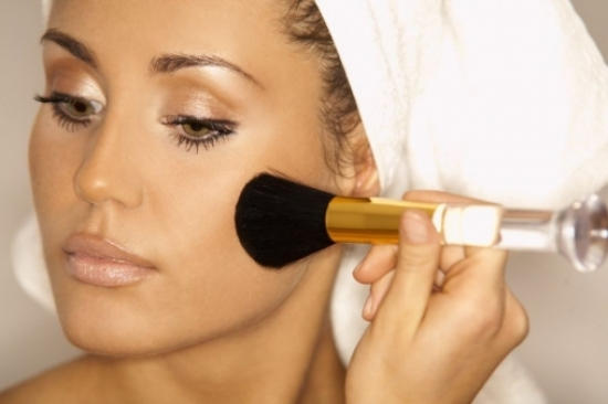 You should use face powder and bronzer as they are the two main items to fix the issue of your fat ...