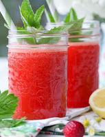 Suco de Melancia com Morango e Limão (vegana)