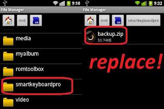 Cara menjadikan tulisan android seperti BB memakai autoteks di smartkeyboard
