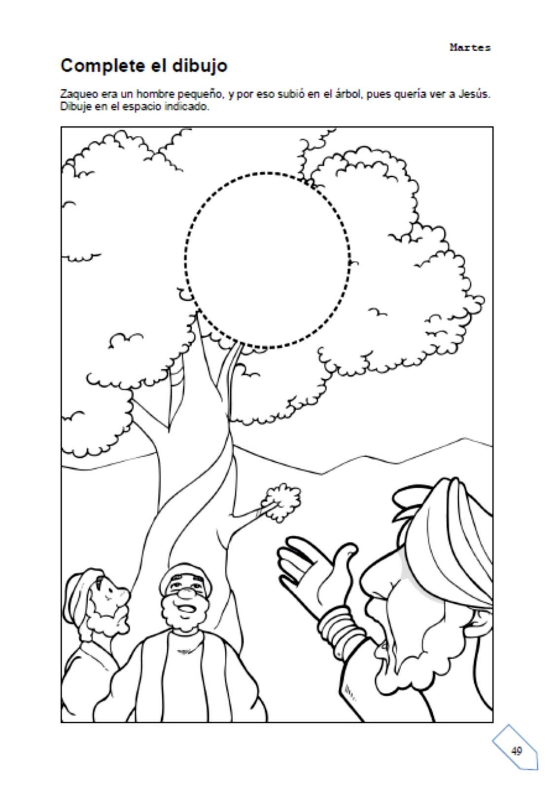 zaqueo coloring pages - photo #10