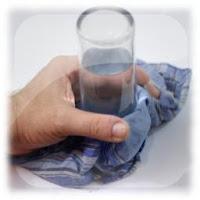 Pañuelo que sostiene el agua, experimento para niños, truco de magia