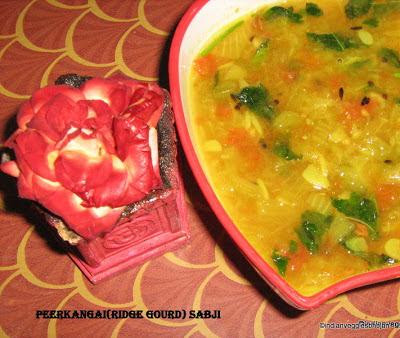 Peerkangai(Ridge Gourd) Sabji