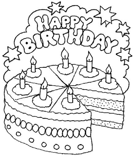 pin coloriage gateau anniversaire 1 coloriages nourriture en italien cake on pinterest. Black Bedroom Furniture Sets. Home Design Ideas