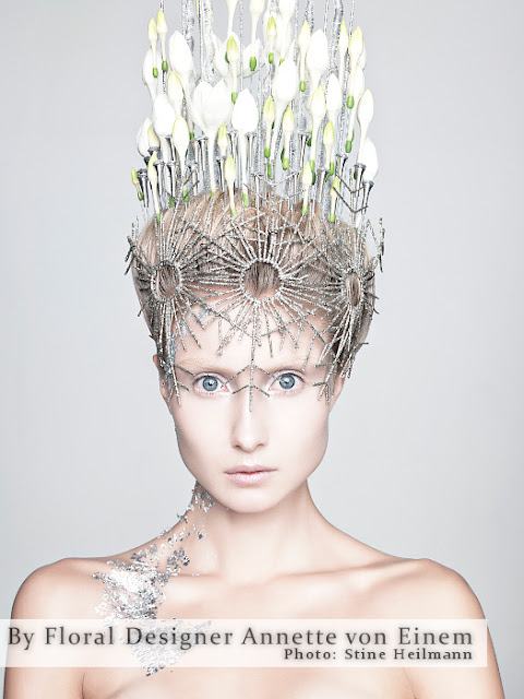 головной убор из цветов