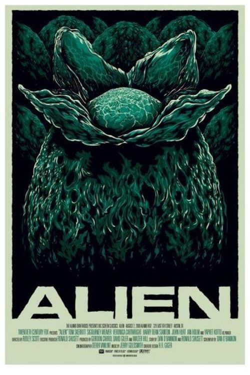 Ken Taylor illustrations movie posters silkscreen Alien