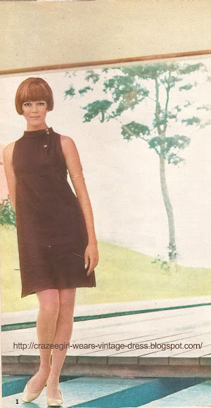 1967 dress 60s 1960 CHLOE chez Popard sleeveless