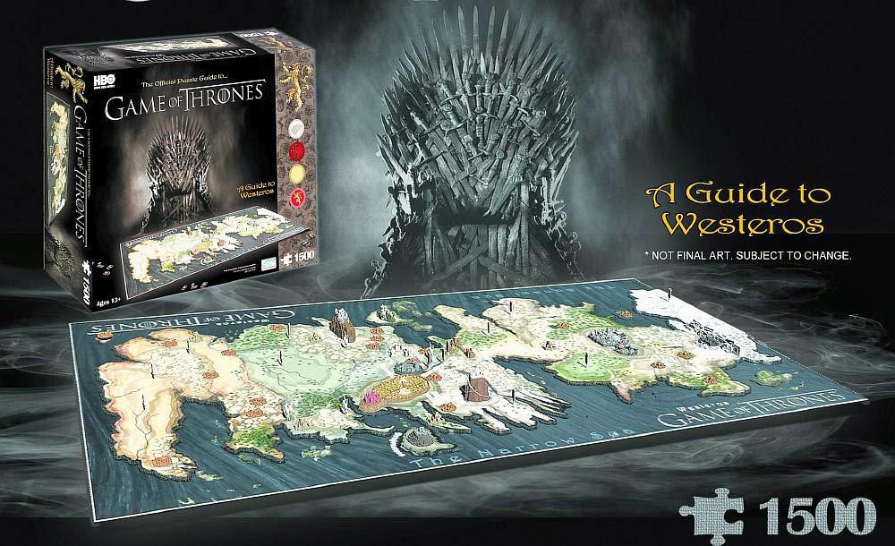 Mapa 3D Juego de Tronos en versin puzzle  Juego de Tronos en los