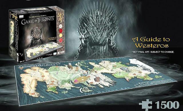 puzzle 3d mapa juego de tronos - Juego de Tronos en los siete reinos