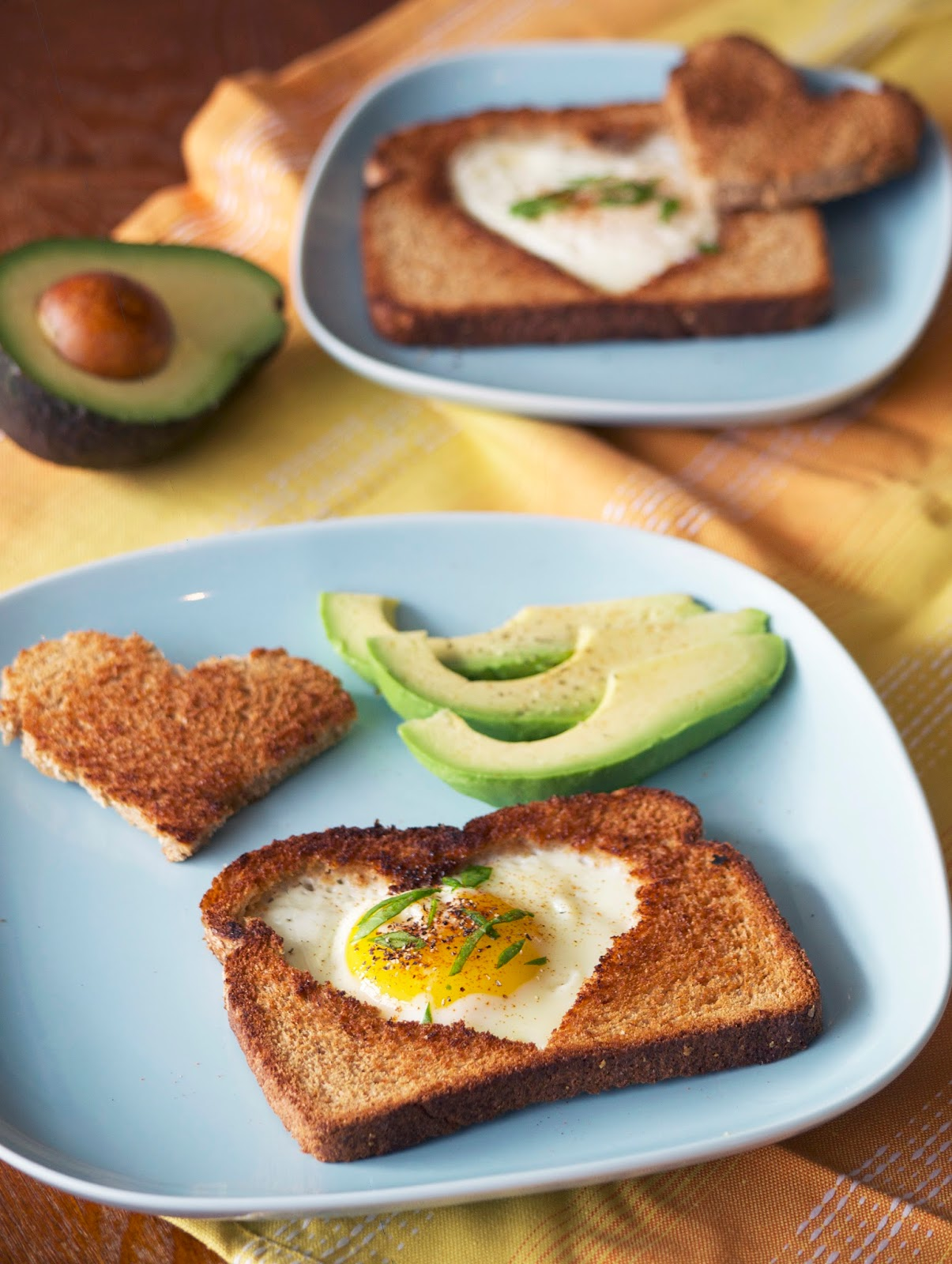 eggs Basket Fried Egg Toast valentines brunch breakfast heart