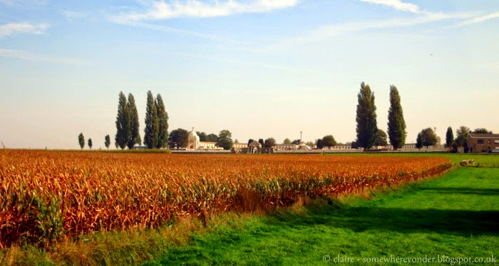Driving towards Tyne Cot Cemetery and Memorial Wall, Flanders Fields Belgium