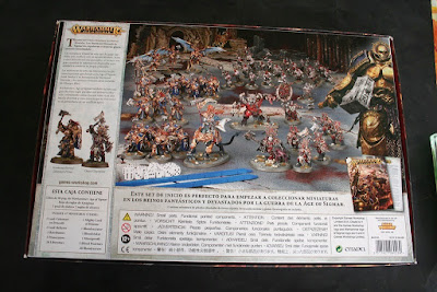 Contraportada de la caja Warhammer: Age of Sigmar