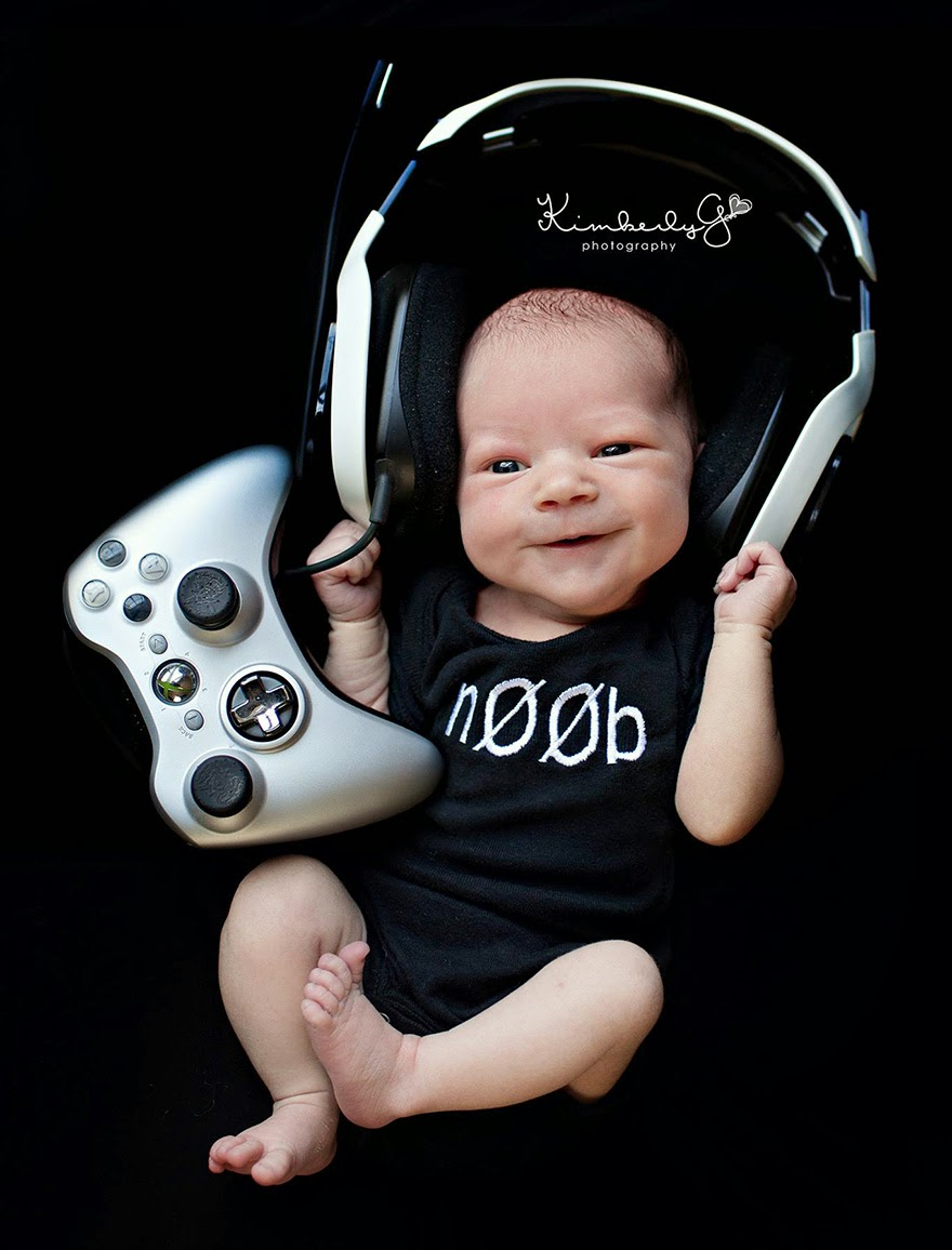 #12 Baby Gamer - 22 Geeky Newborns Who Are Following In Their Parents' Nerdy Footsteps