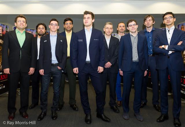Participantes del London Chess Classic