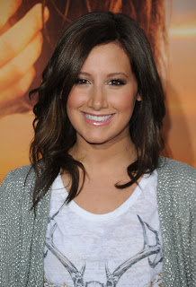 Ashley Tisdale Shoulder Length Medium Curls Hairstyle