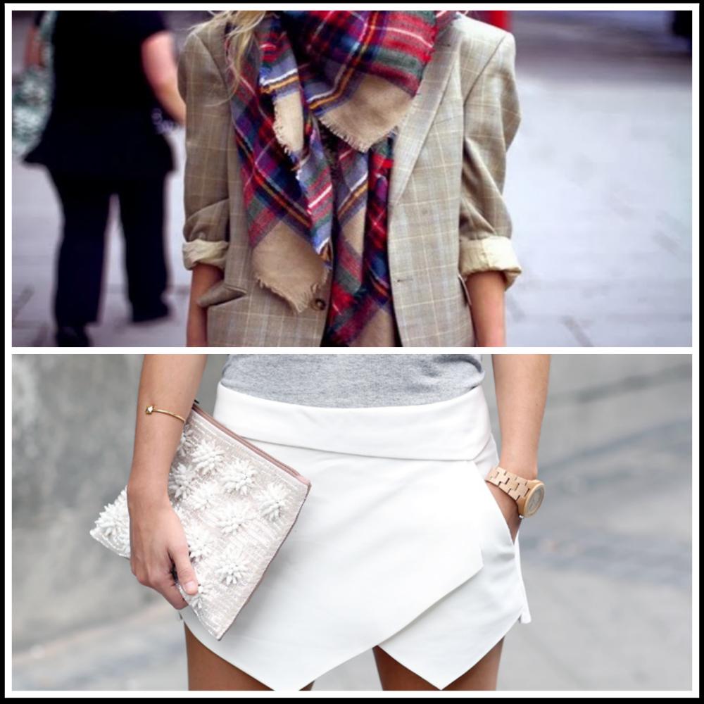 bufanda tartán y falda skort ZARA moda tendencia