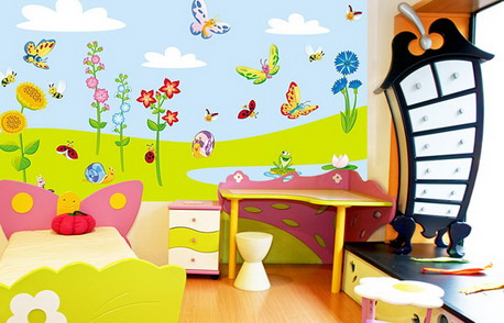 ديكورات جدران غرف اطفال