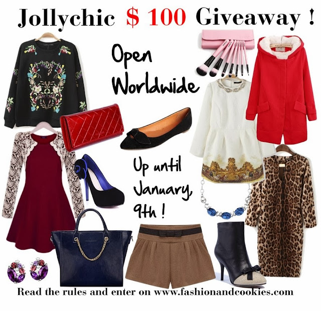 Jollychic $100 gift card giveaway on Fashion and Cookies, open worldwide