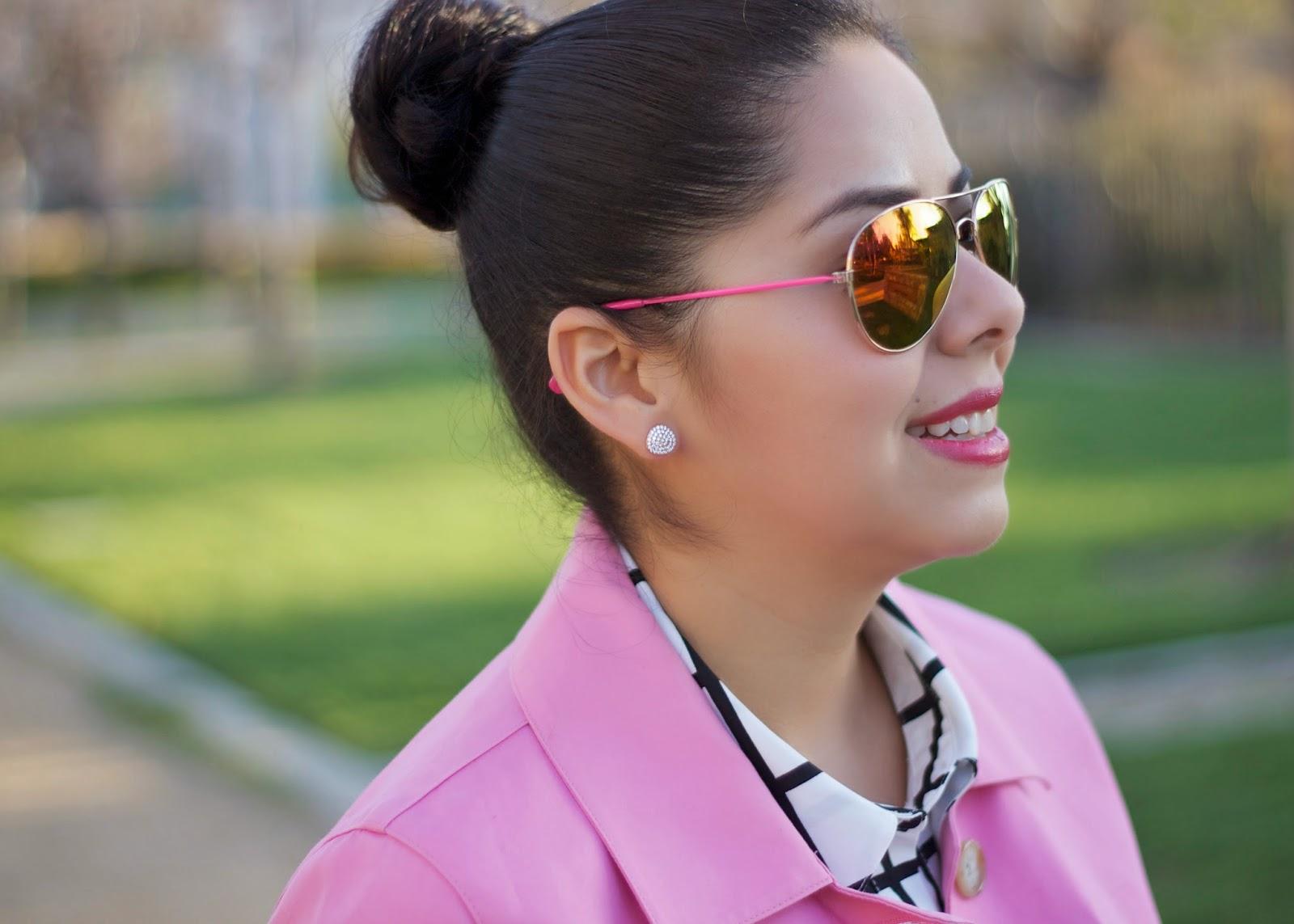 ASJewelry earrings, forever21 pink sunglasses