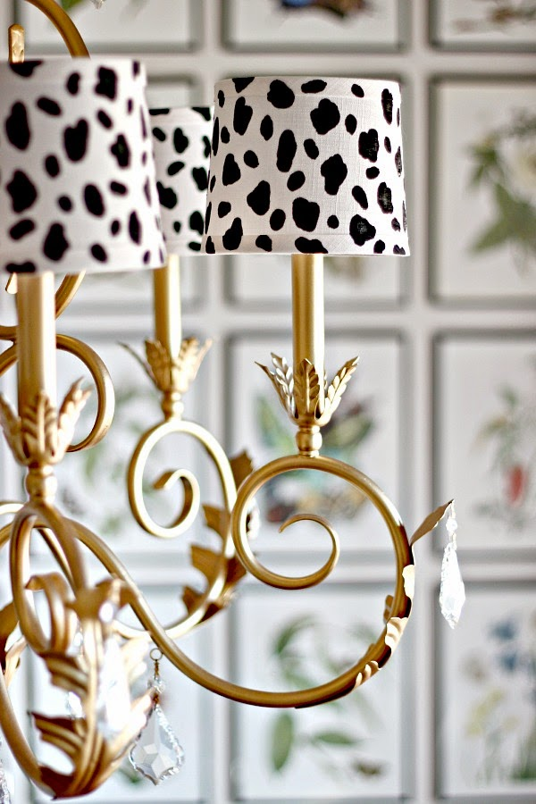Dimples and Tangles DIY SPOTTED CHANDELIER SHADES – Chandelier Shades