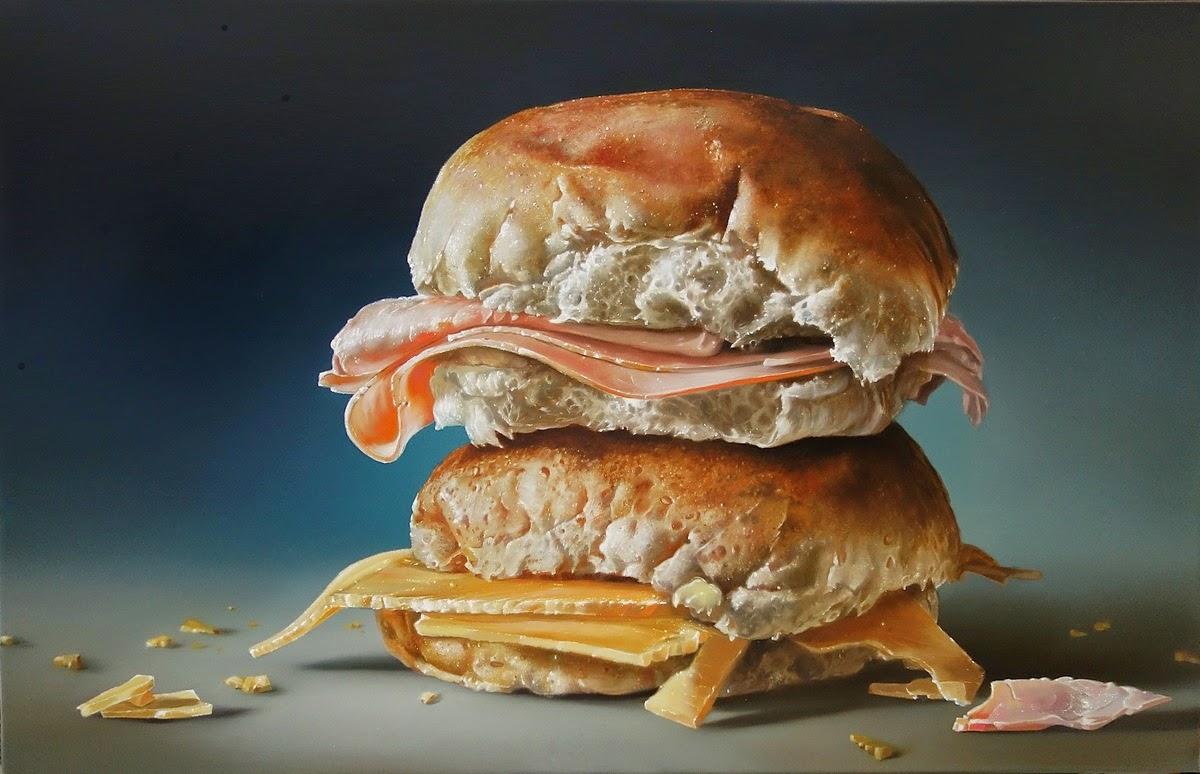 Tjalf Sparnaay, pinturas mega-realistas
