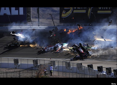 IZOD Indycar Crash