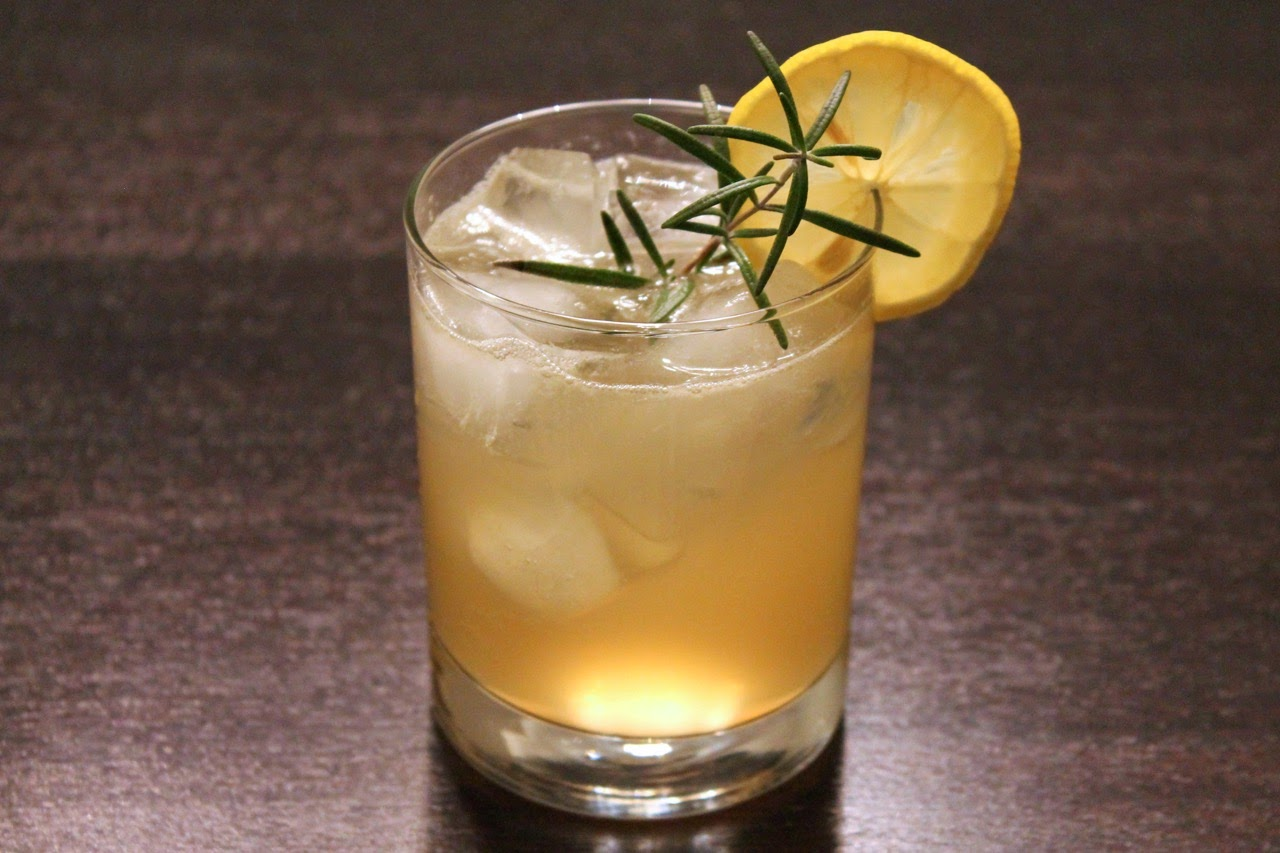 Rye Ginger Sour Cocktail
