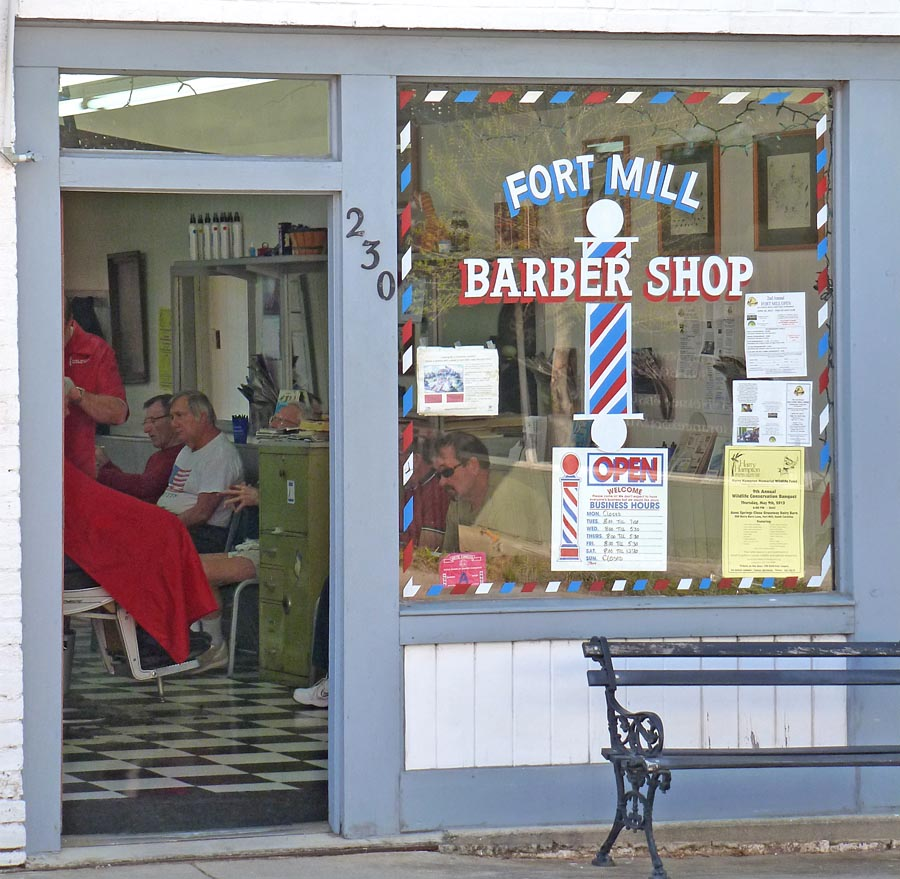 Liked the old timey barber shop and the barber pole i can t imagine