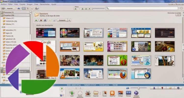 صورة من داخل البرنامج  Picasa