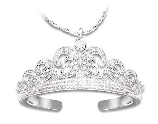 Kate Middleton Wedding Tiara-Inspired Pendant Necklace - Royal Wedding Tiara Pendant Necklace