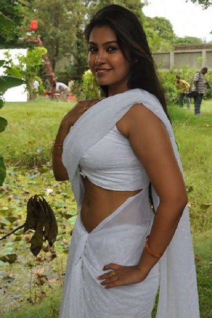 VARSHA K PANDEY In Sexy Saree indianudesi.com