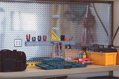 altu003d chrome diamond plate sheets for garage walls u003e & Spice up your garage with Diamond Plate | Chrome Plastic Diamond ...