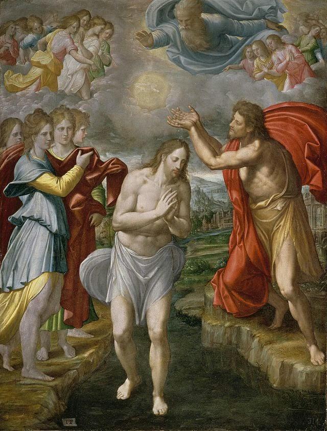 Baustismo de Cristo del gran artista español conocido como Navarrete el Mudo