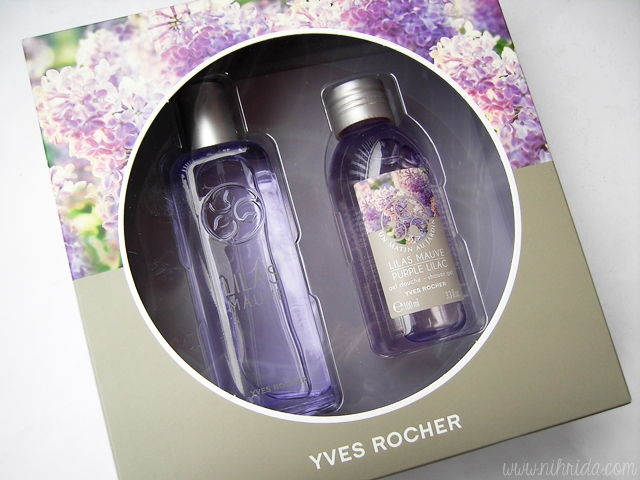 Yves Rocher Lilas Mauve Purple Lilac Set