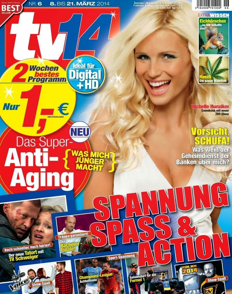 Michelle Hunziker Photos from TV 14 Germany Magazine Cover March 2014 HQ Scans