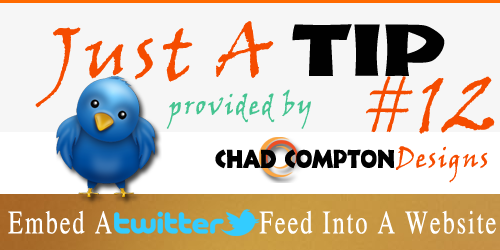 how to add twitter feed to html website
