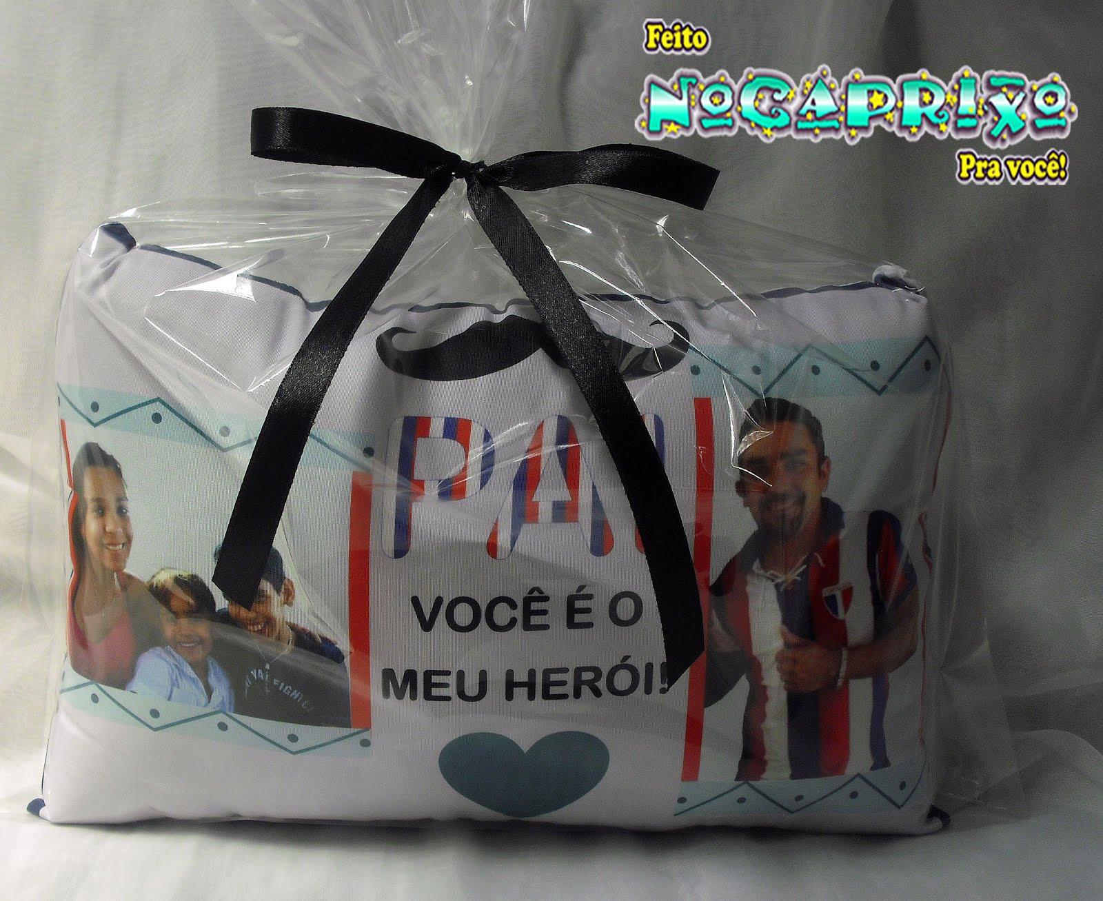 Presente Dia dos Pais - Mini-Travesseiro Personalizado