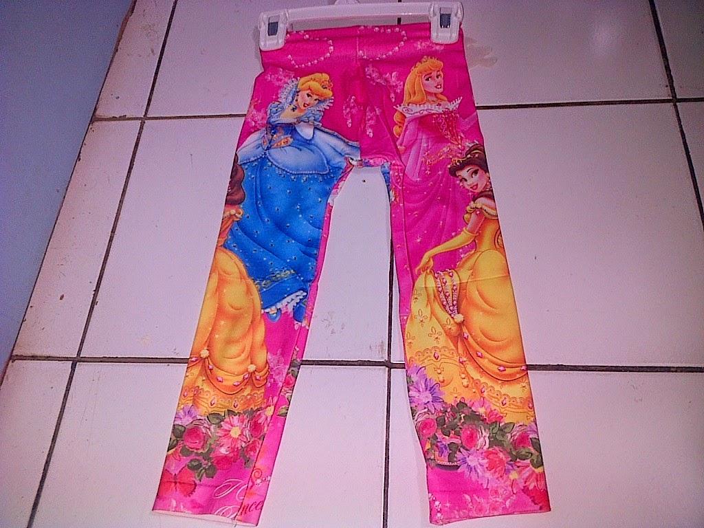 Contoh Legging Anak Motif Disney Princess Murah