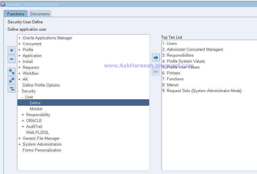 How to create user in Oracle Applications, AskHareesh.blogspot.com