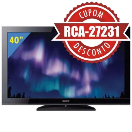 Cupom eFácil - TV 40 LCD Sony Bravia Full HD KDL-40BX455