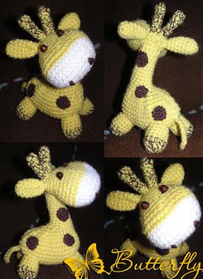Мягкие вязаные игрушки блелоки брелки жираф