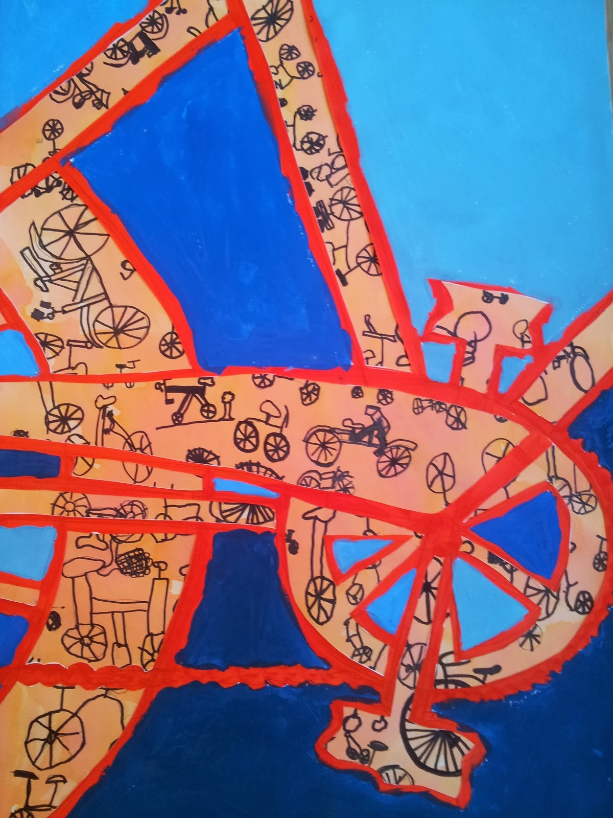 Sådan maler du et sejt cykelbillede.
