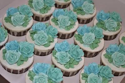 Cupcakes de Boda Color Turquesa, parte 3