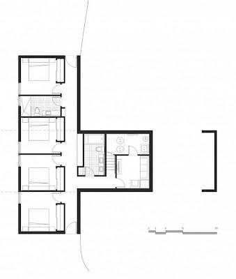 casa de madera con terraza