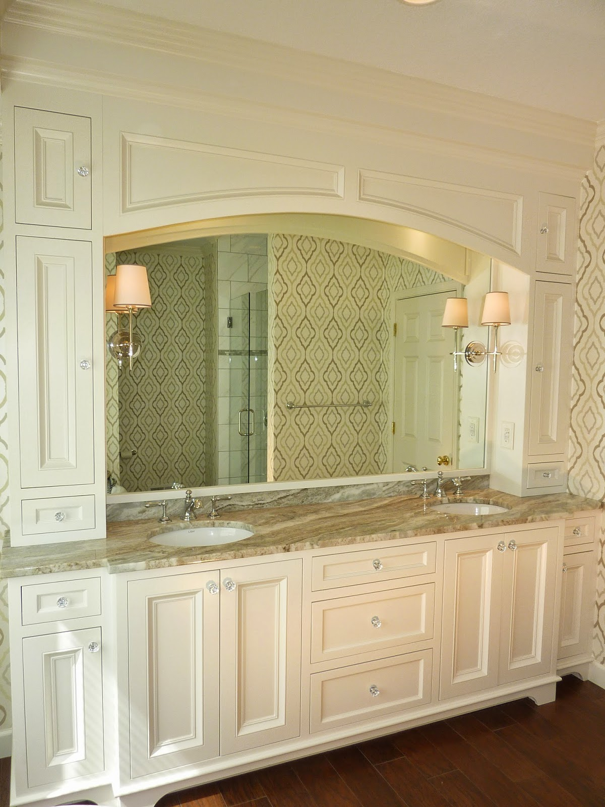 cabinets wafclan for designs bathroom custom cabinet elegant of bathrooms