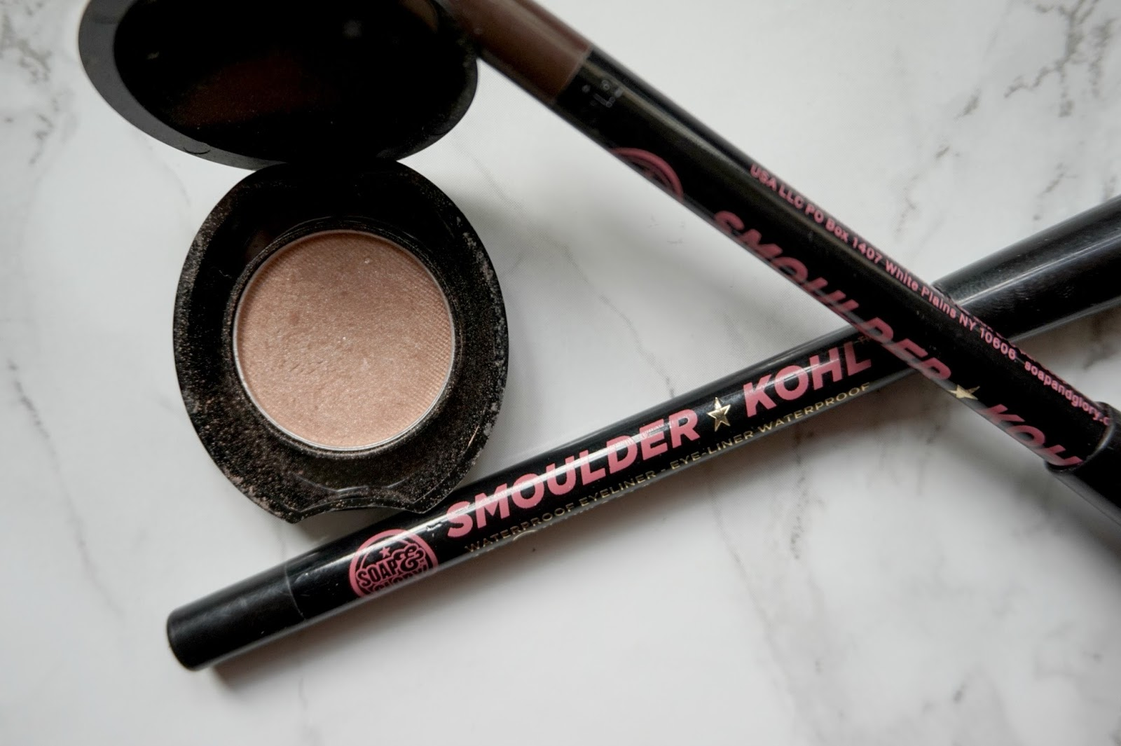 No7, eyeshadow, soap and glory, eyeliner, smoulder kohl