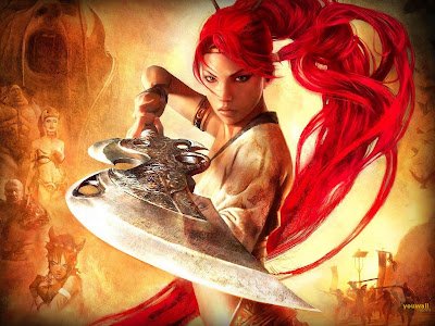 Red Warrior Girl Wallpaper