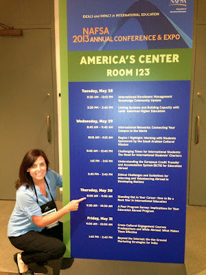 "Here's Brooke, presenting at NAFSA with her ""How to be a Rock Star"" session."