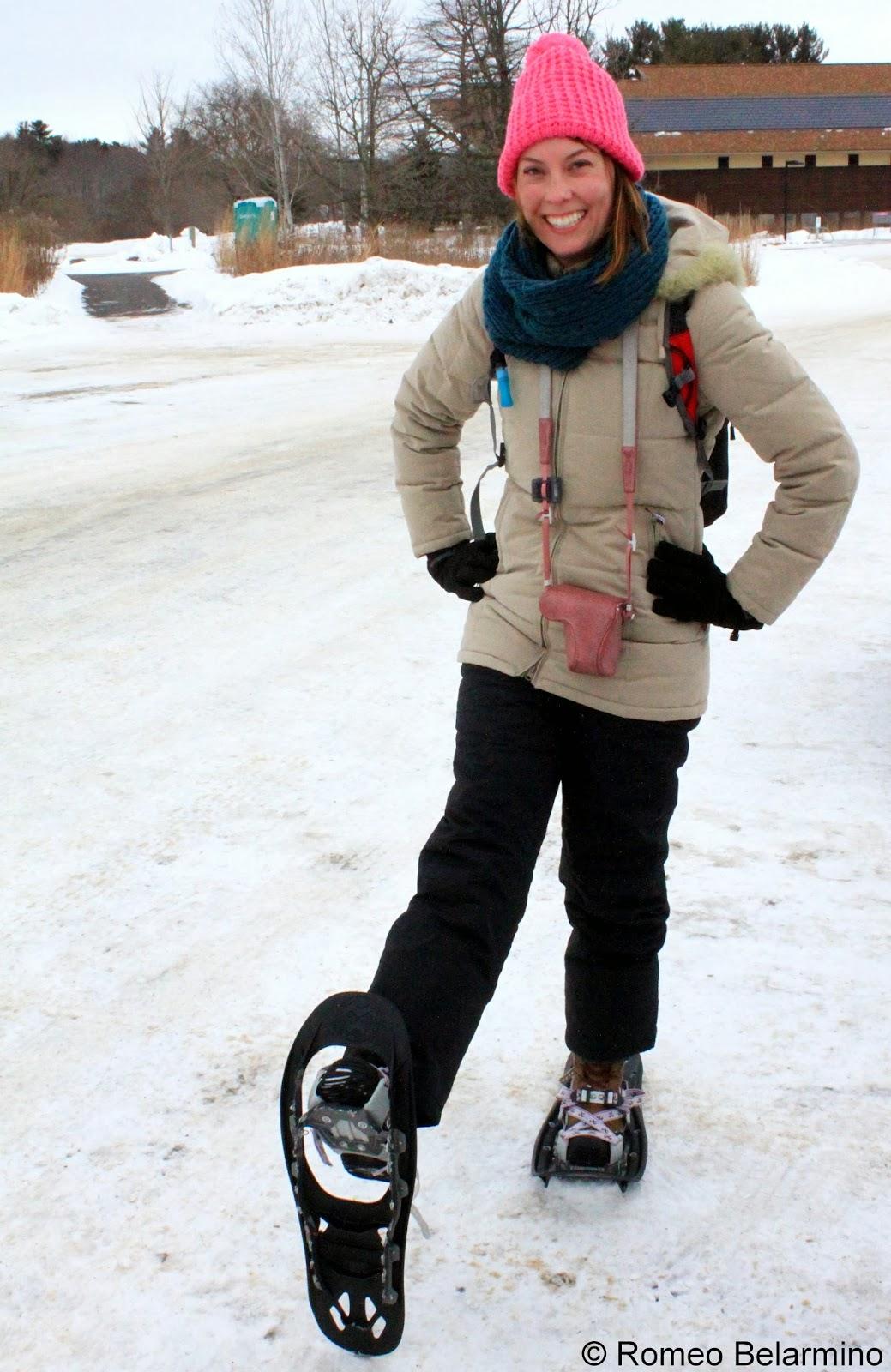 Snowshoeing in Wisconsin Flip Flops