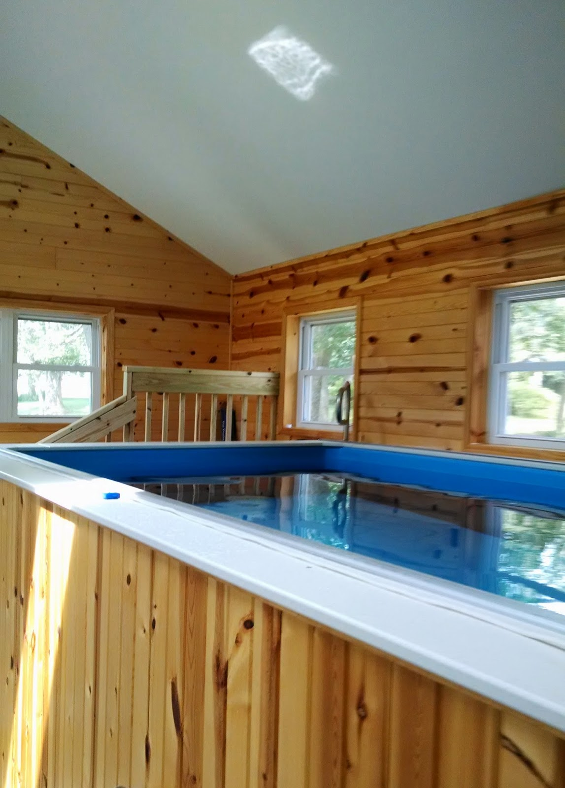 A simple, rustic Endless Pool installation used by Meg O. of Stoddard, WI, to recover from a painful, years-long injury.