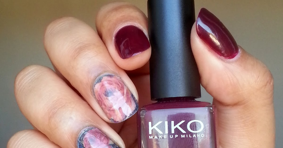 kiko 243 plum red water decals fa on papier peint fleuri de m re grand pinezoe blog nail. Black Bedroom Furniture Sets. Home Design Ideas